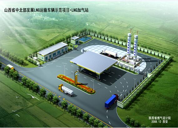 [山西省中北部发展LNG运输车辆示范项目.LNG亚博国际老虎机站]